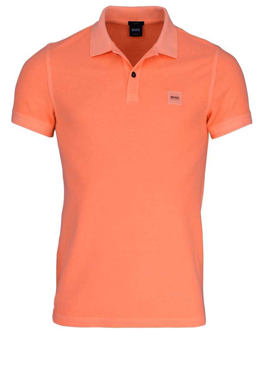 63d15d13e01421 BOSS Poloshirt PRIME Halbarm geknöpften Kragen Pique lachs