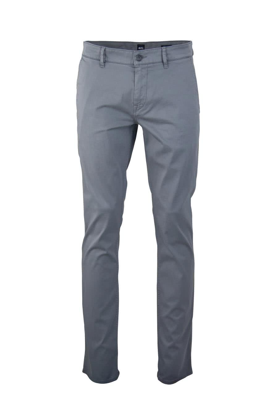 89a592ed066375 BOSS Regular Fit Hose Schino mit Taschen grau
