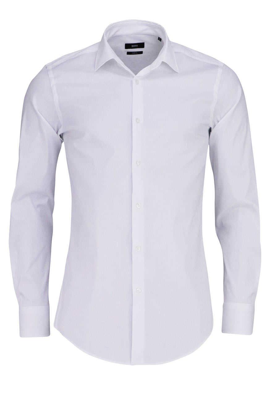 boss slim fit hemd jenno extra langer arm stretch wei. Black Bedroom Furniture Sets. Home Design Ideas