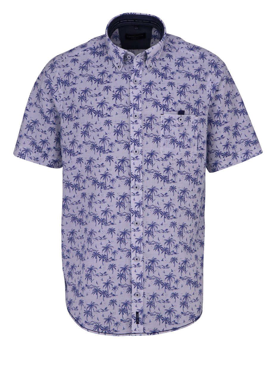 designer fashion 97be9 a2c6c CASAMODA Casual Fit Hemd Halbarm Muster dunkelblau