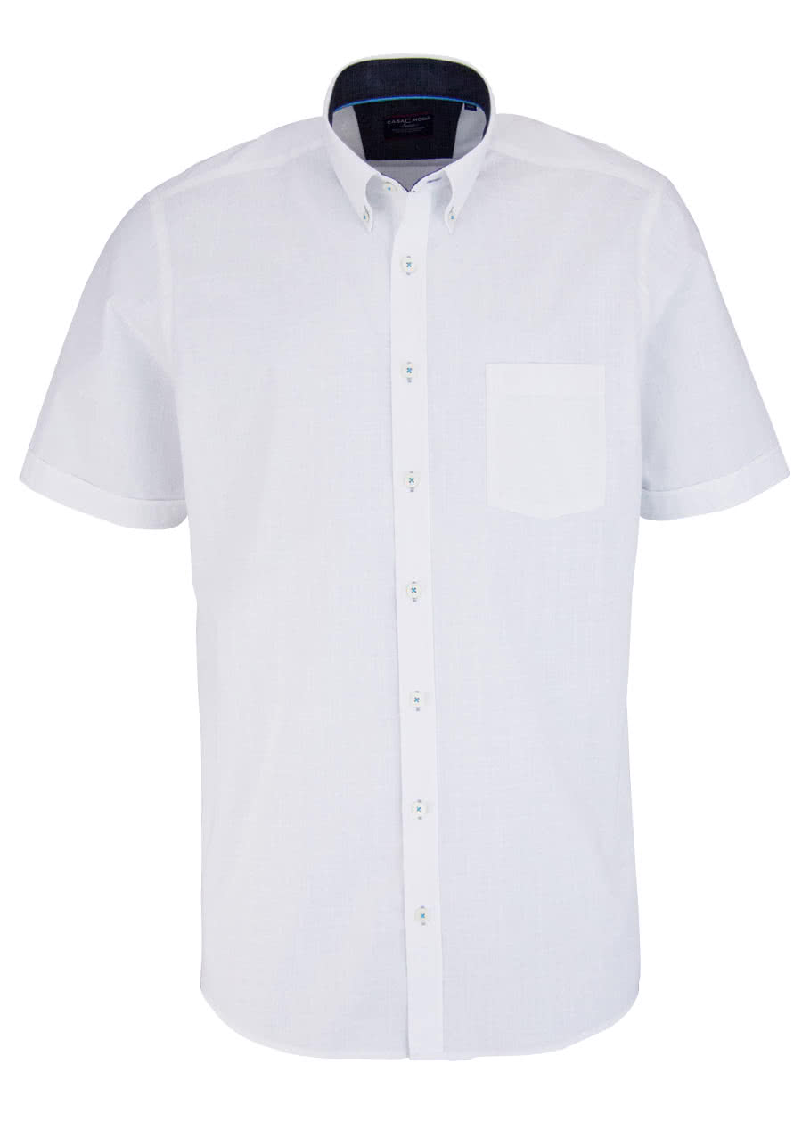Casamoda comfort fit hemd halbarm button down kragen for Hem satteldorf prospekt