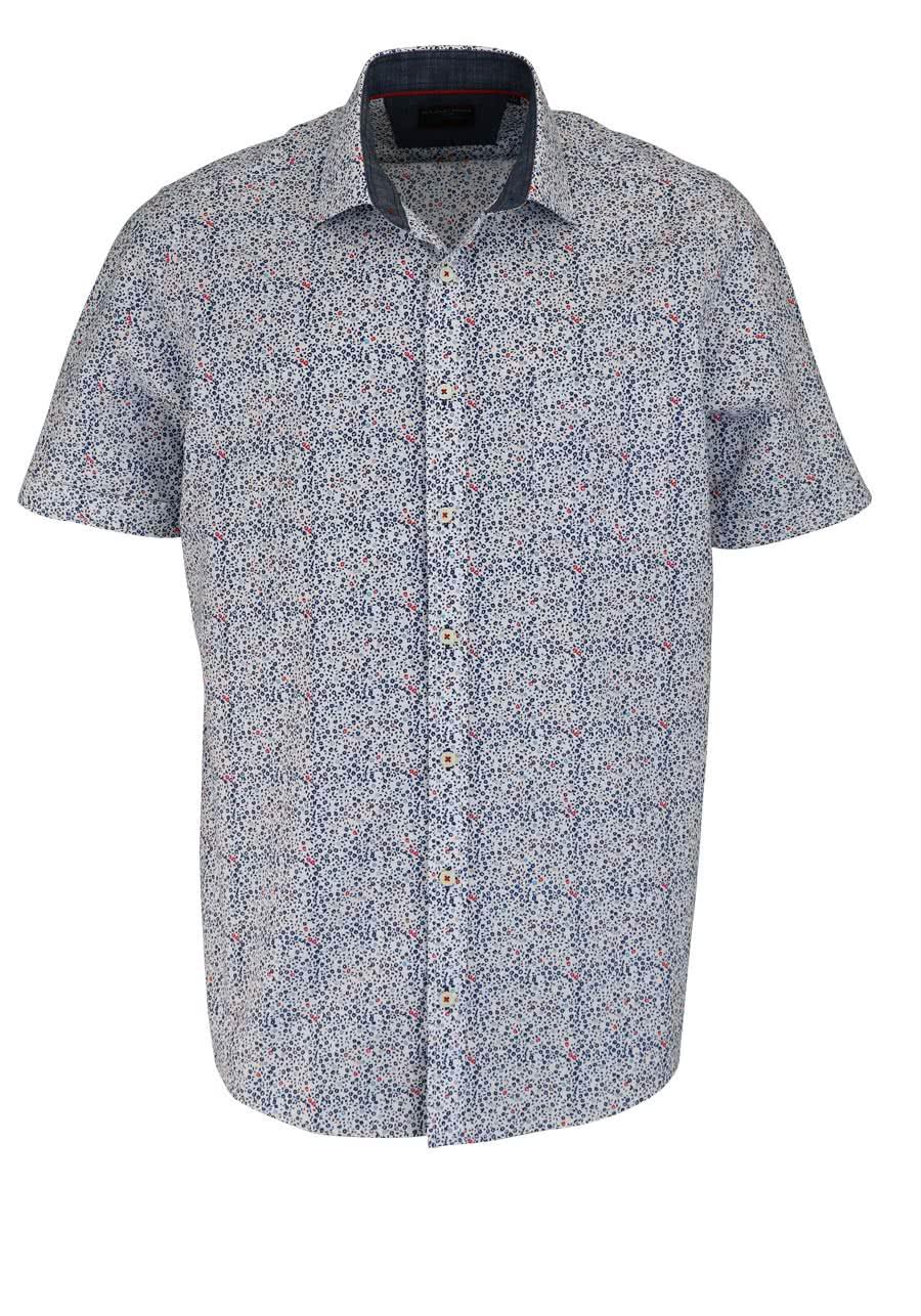 0fb0598799e8 CASAMODA Comfort Fit Hemd Halbarm New Kent Kragen Muster blau