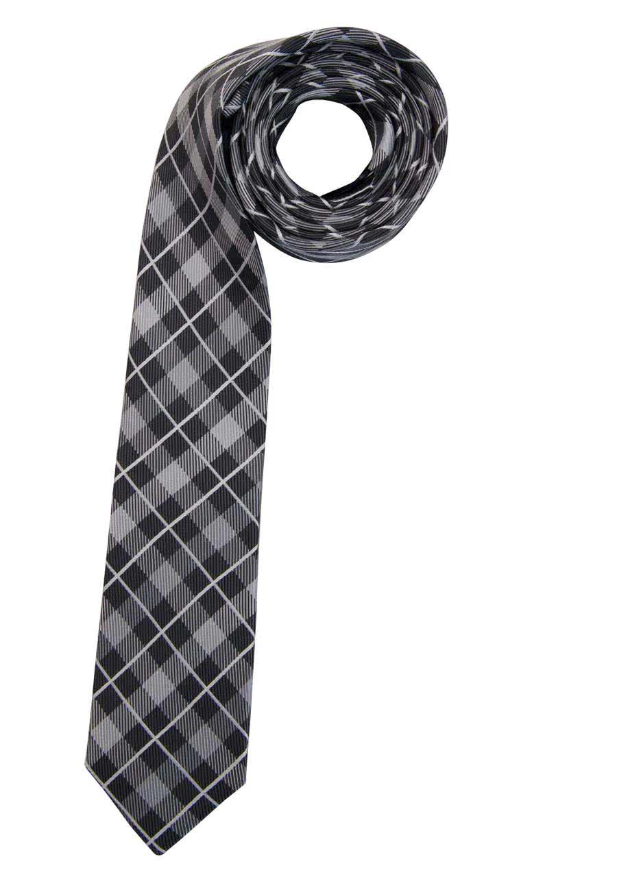 Casa Moda Business Krawatte reine Seide grau-orange-hellblau gestreift NEU
