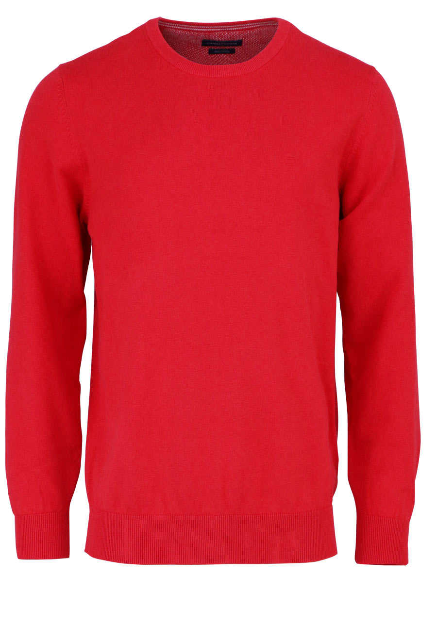 new arrivals ad2be 71f68 CASAMODA Pullover Langarm Rundhals Prima Cotton Strick rot