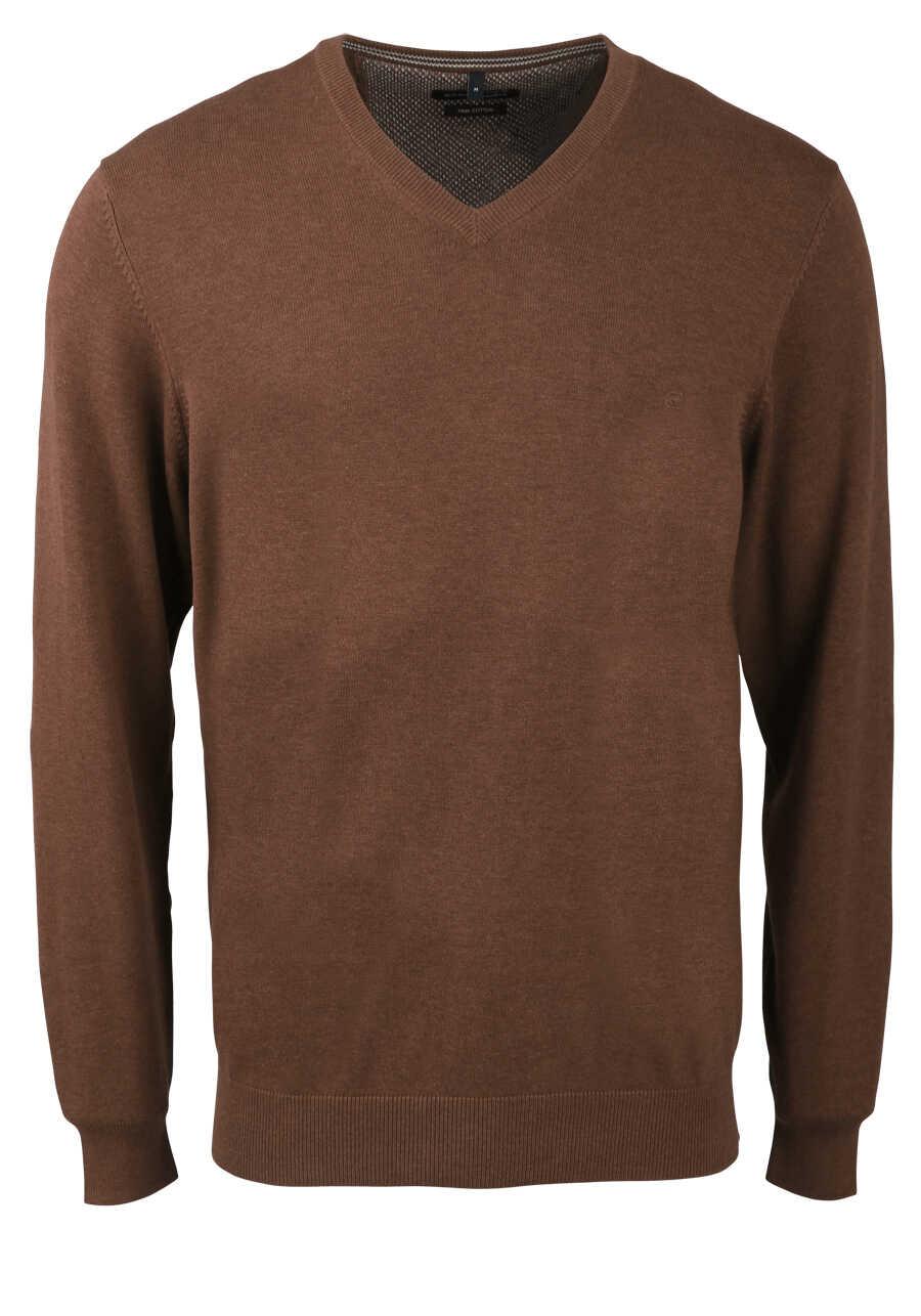 Arm Braun Pullover Casamoda Ausschnitt V Langer Extra Strick c54LAjq3R
