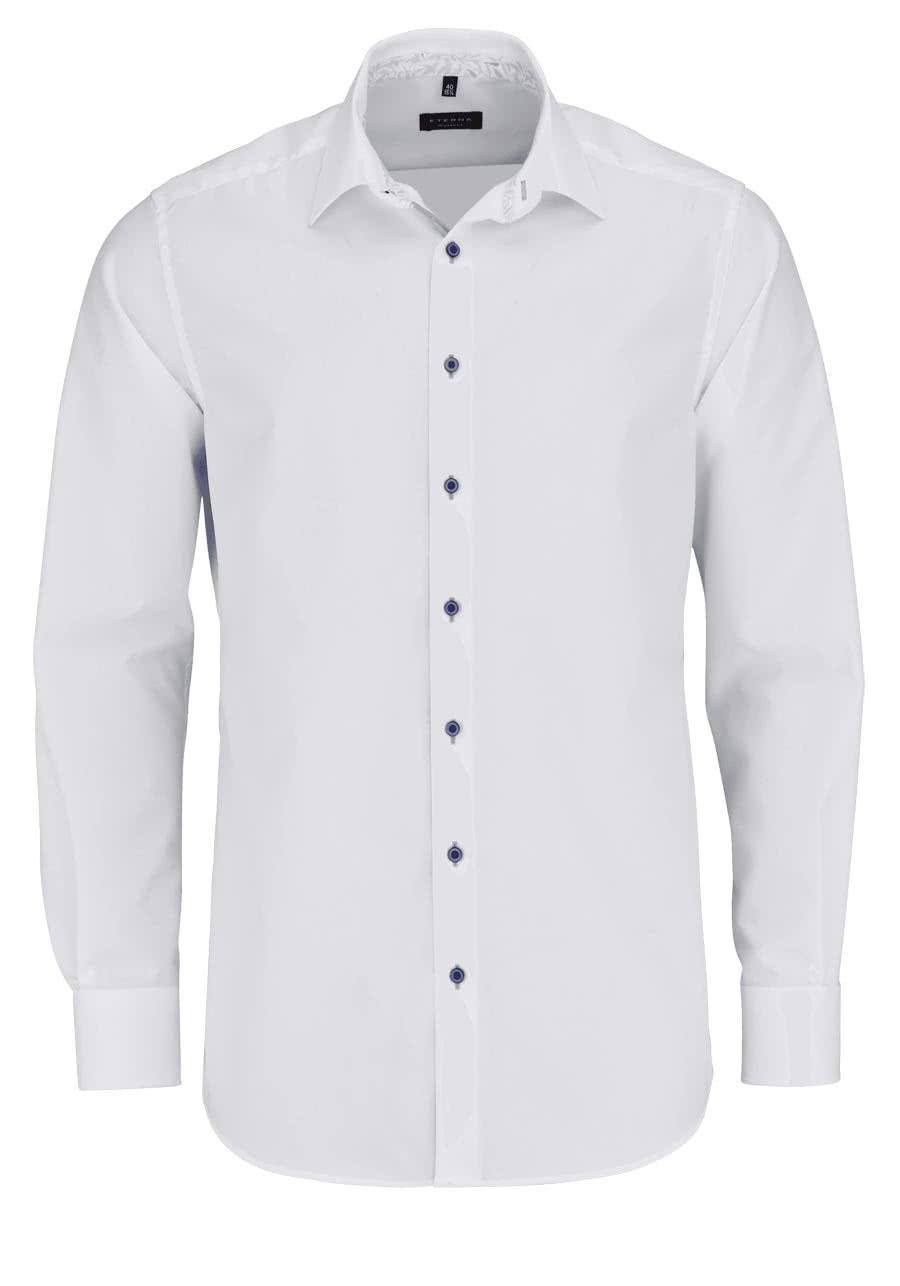 ETERNA Comfort Fit Hemd extra langer Arm New Kent Kragen weiß 9de3b045a2