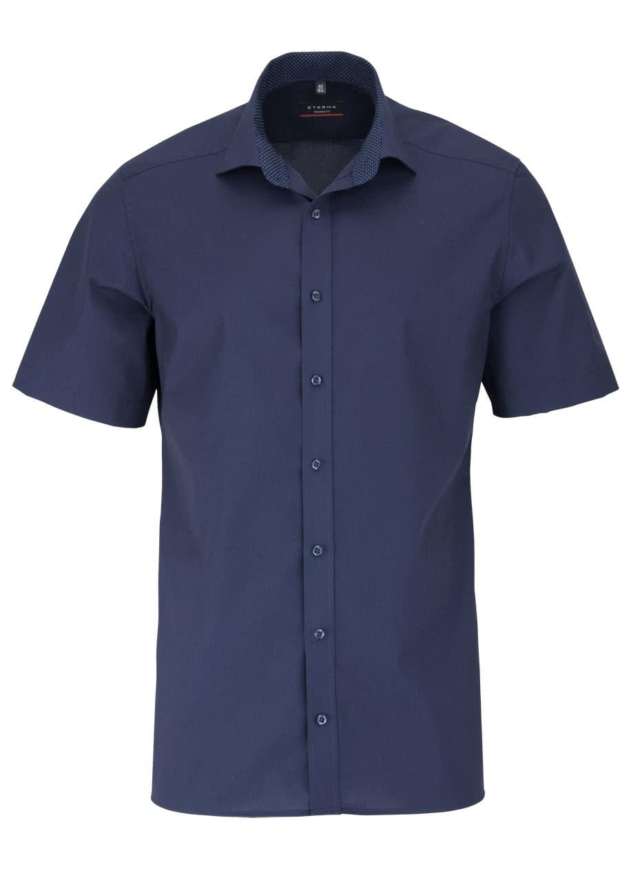 eterna modern fit hemd halbarm mit besatz new kent kragen. Black Bedroom Furniture Sets. Home Design Ideas