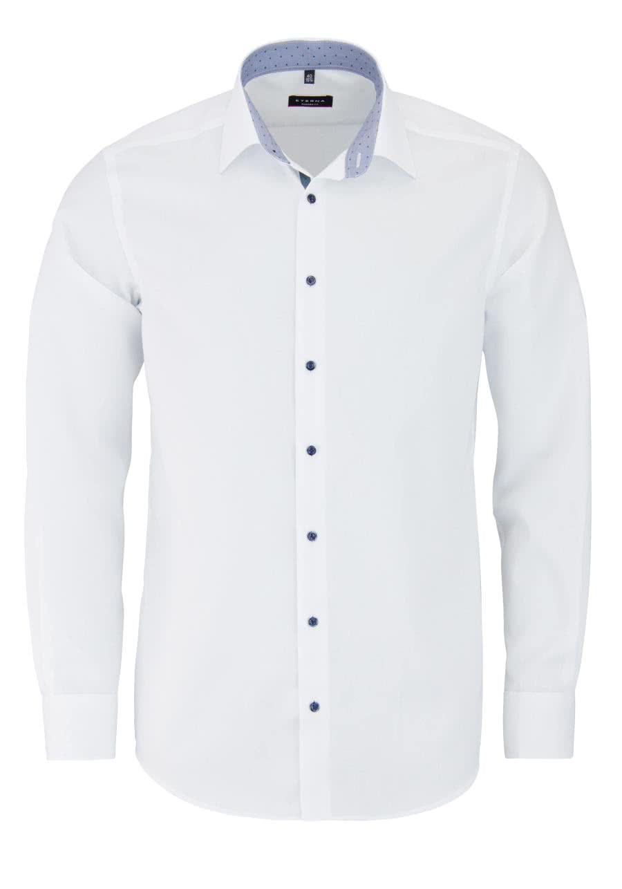 eterna modern fit hemd langarm new kent kragen mit patch wei. Black Bedroom Furniture Sets. Home Design Ideas