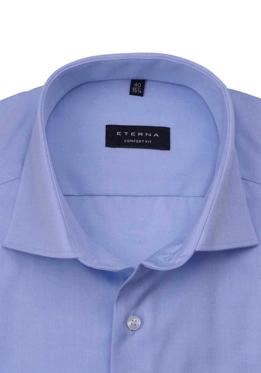 ETERNA Modern Fit Hemd extra langer Arm Blickdicht hellblau