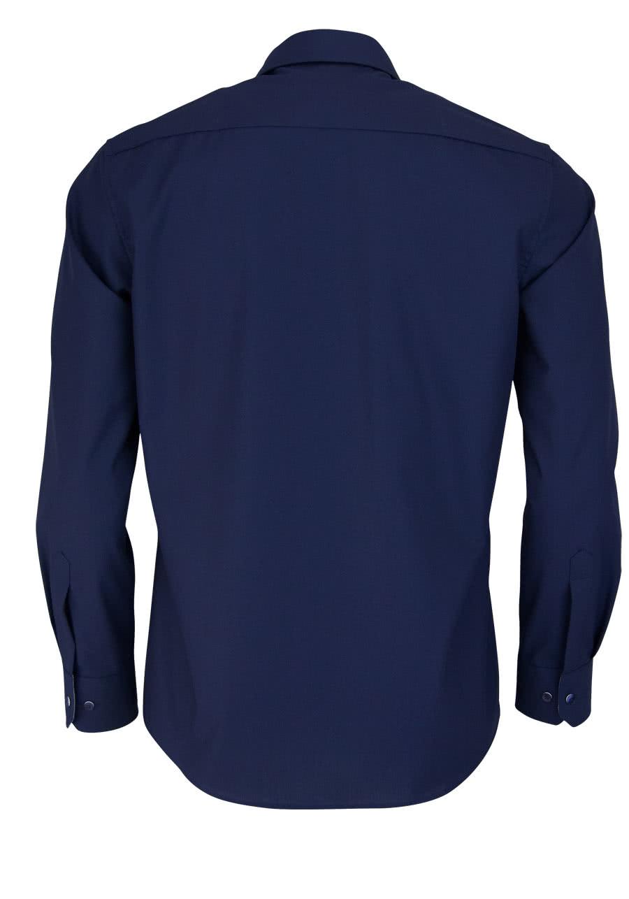 675bc8e41605 ETERNA Modern Fit Hemd extra kurzer Arm nachtblau