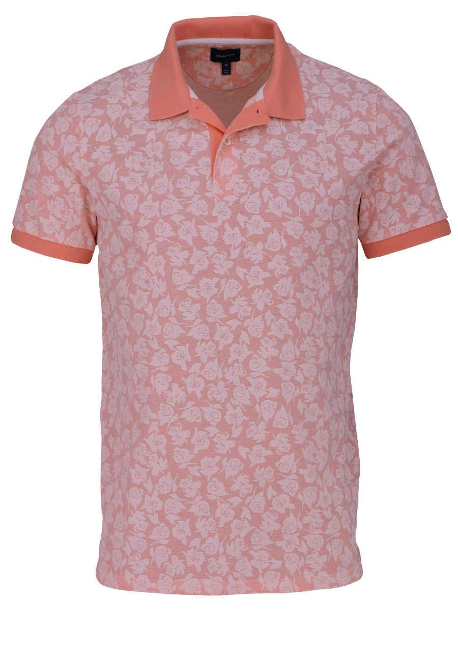 huge selection of 3486b cba61 GANT Poloshirt Regular Fit Polokragen Allover Druck Blumen orange