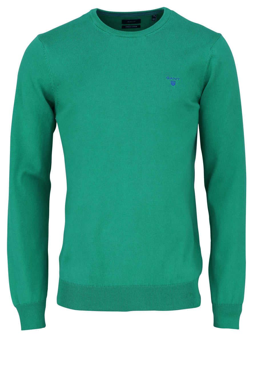 competitive price aab1c 417b0 GANT Pullover Langarm Rundhals mit Logostick smaragdgrün