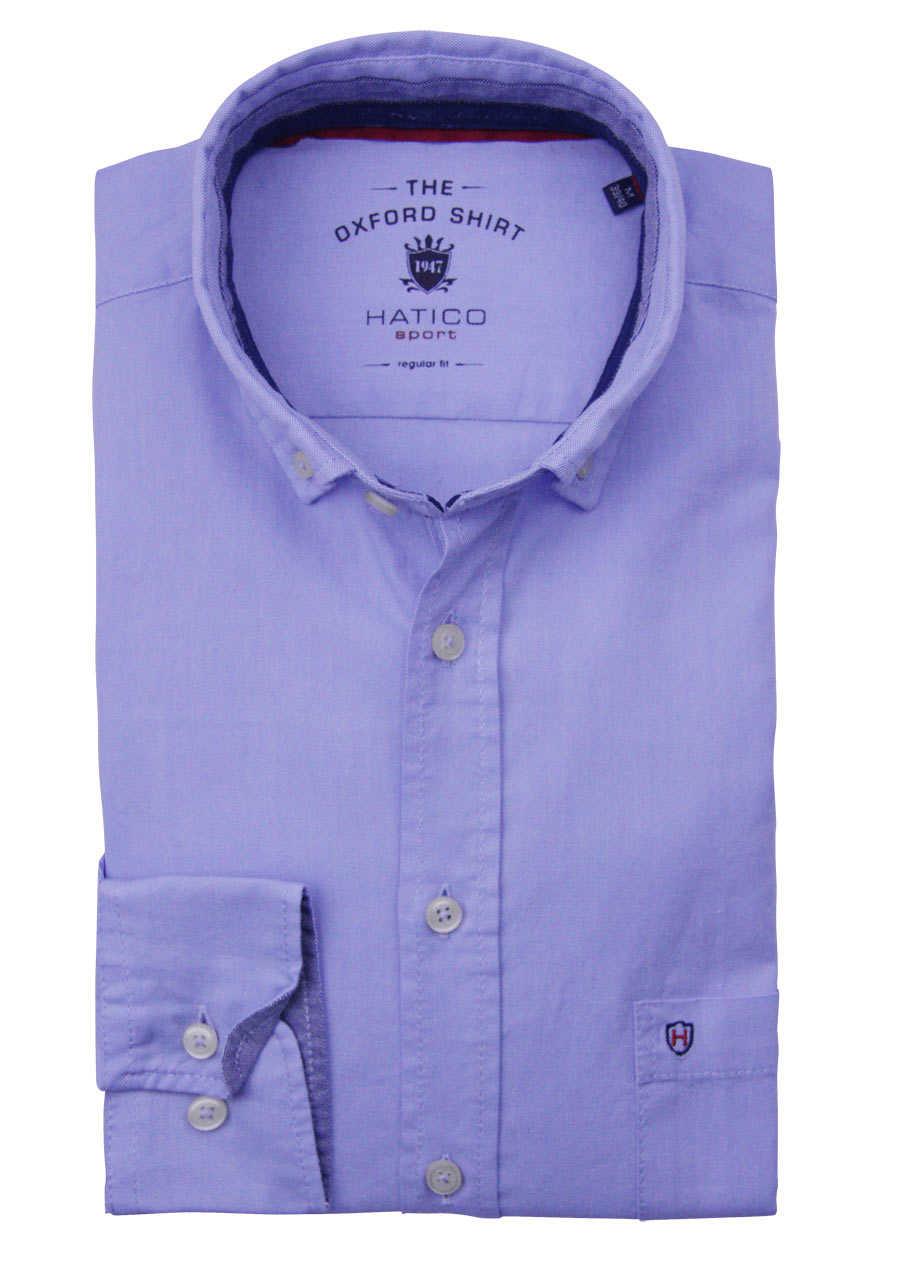 Gr M,L,XL CASAMODA Casual Fit Hemd Langarm Button Down Kragen Struktur blau
