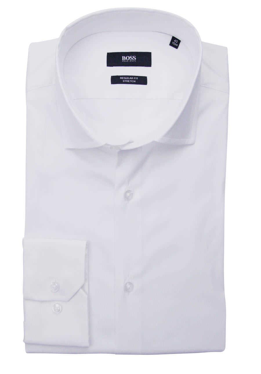 boss hemd weiss regular fit