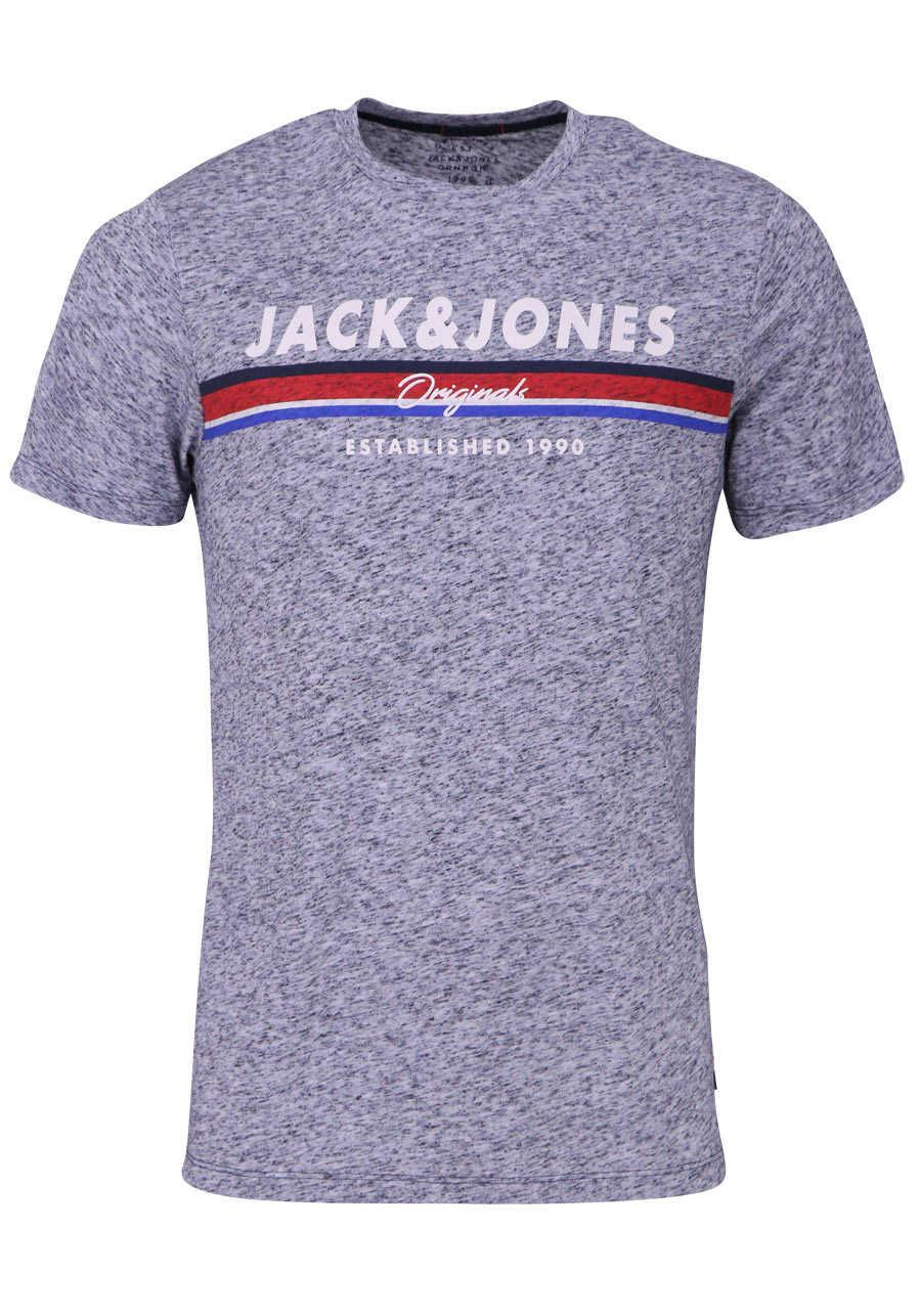 Jack Jones Halbarm T Shirt Total Eclipse Rundhals Nachtblau