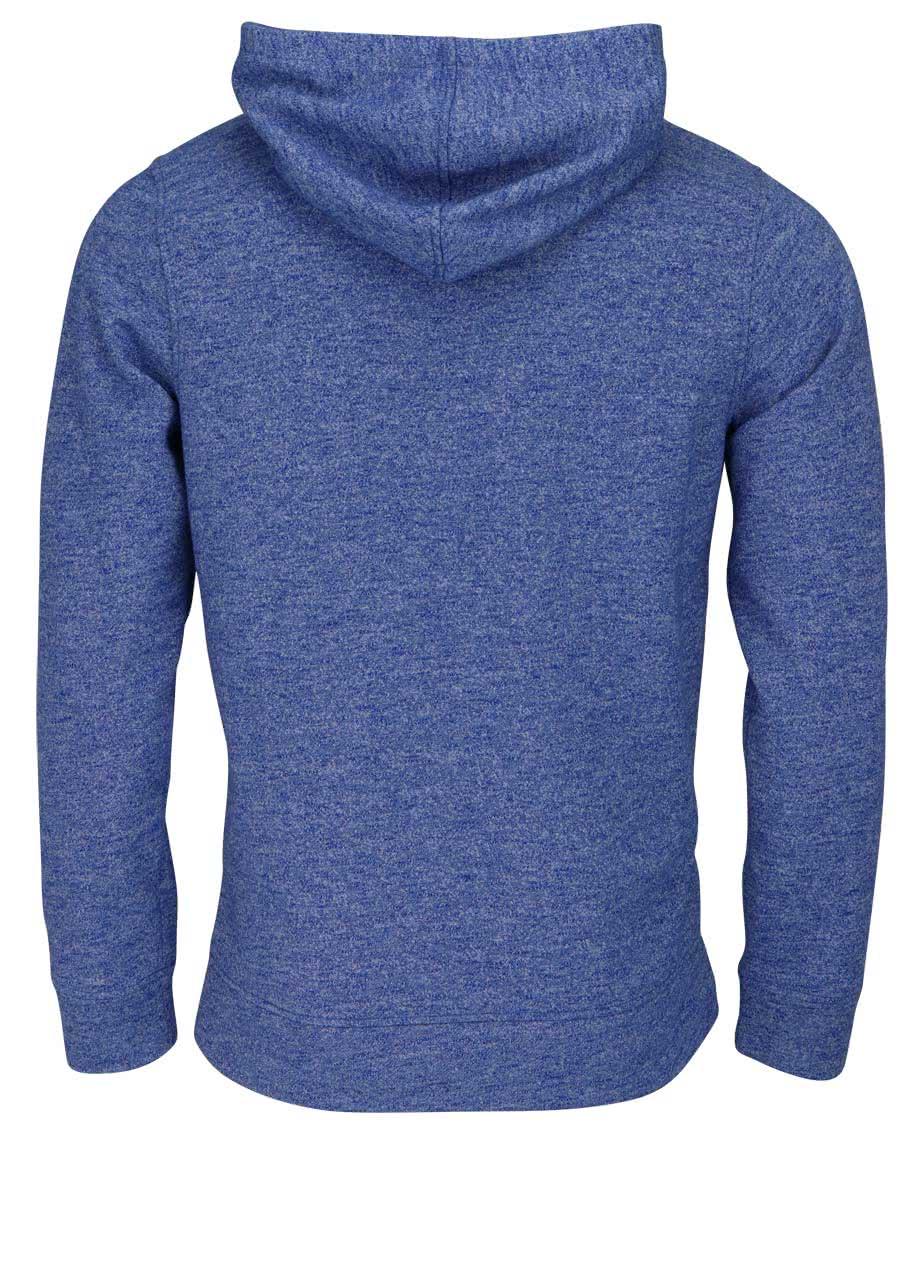 jack jones sweatshirt langarm jorpanther meliert blau. Black Bedroom Furniture Sets. Home Design Ideas