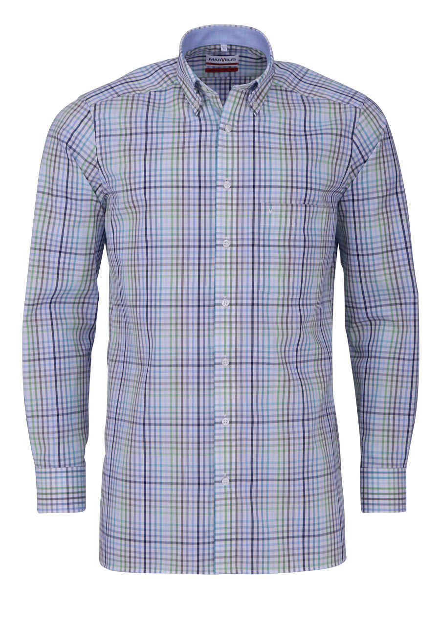 marvelis modern fit hemd extra langer arm button down. Black Bedroom Furniture Sets. Home Design Ideas