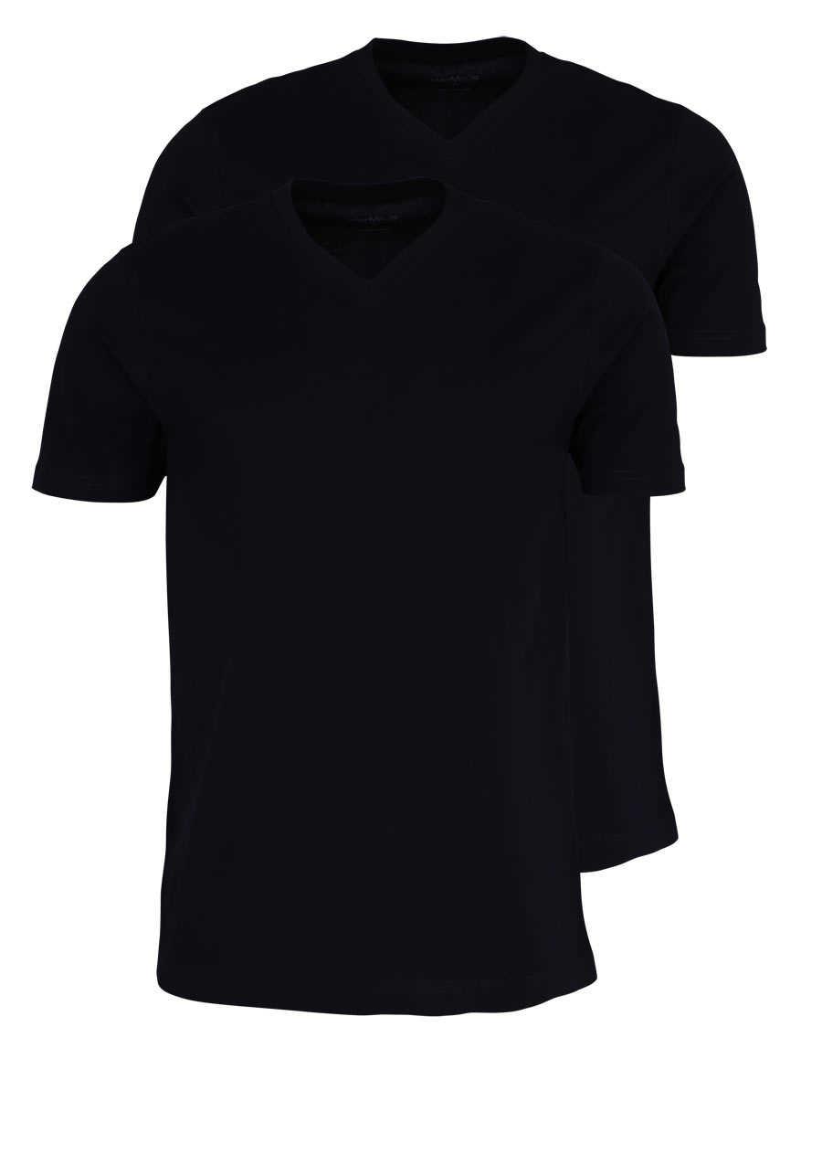 a31616e492e0d4 MARVELIS T-Shirt Doppelpack V-Ausschnitt schwarz