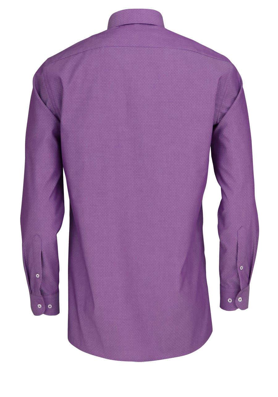 70a55f4fef07 MARVELIS Modern Fit Hemd Langarm New Kent Kragen Punkte lila