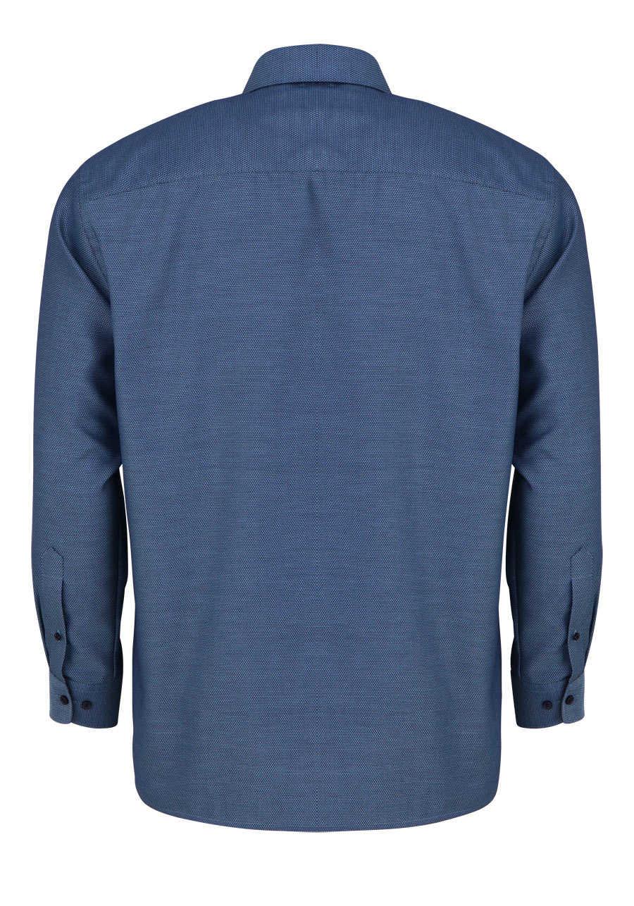 87a9a1423a07 OLYMP Luxor comfort fit Hemd Langarm New Kent Kragen Muster grün