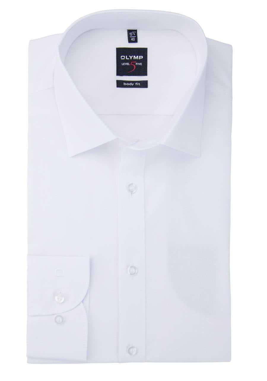 olymp hemden mit passender kostenloser seidenkrawatte hemden meister  olymp level five body fit hemd langarm new kent kragen stretch wei�