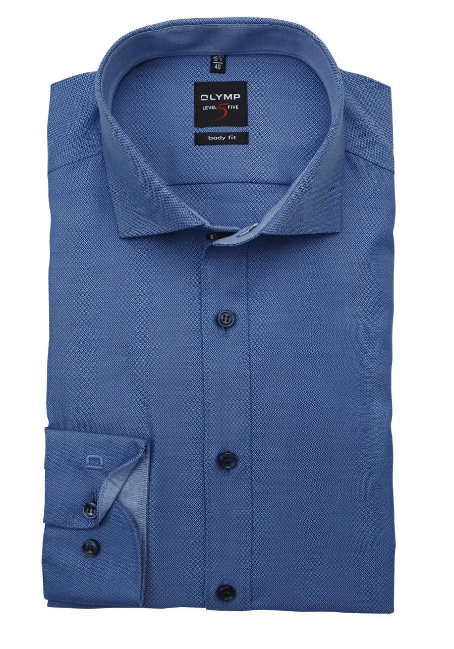 Hemd der Marke Olymp Level 5 Five Body fit blau