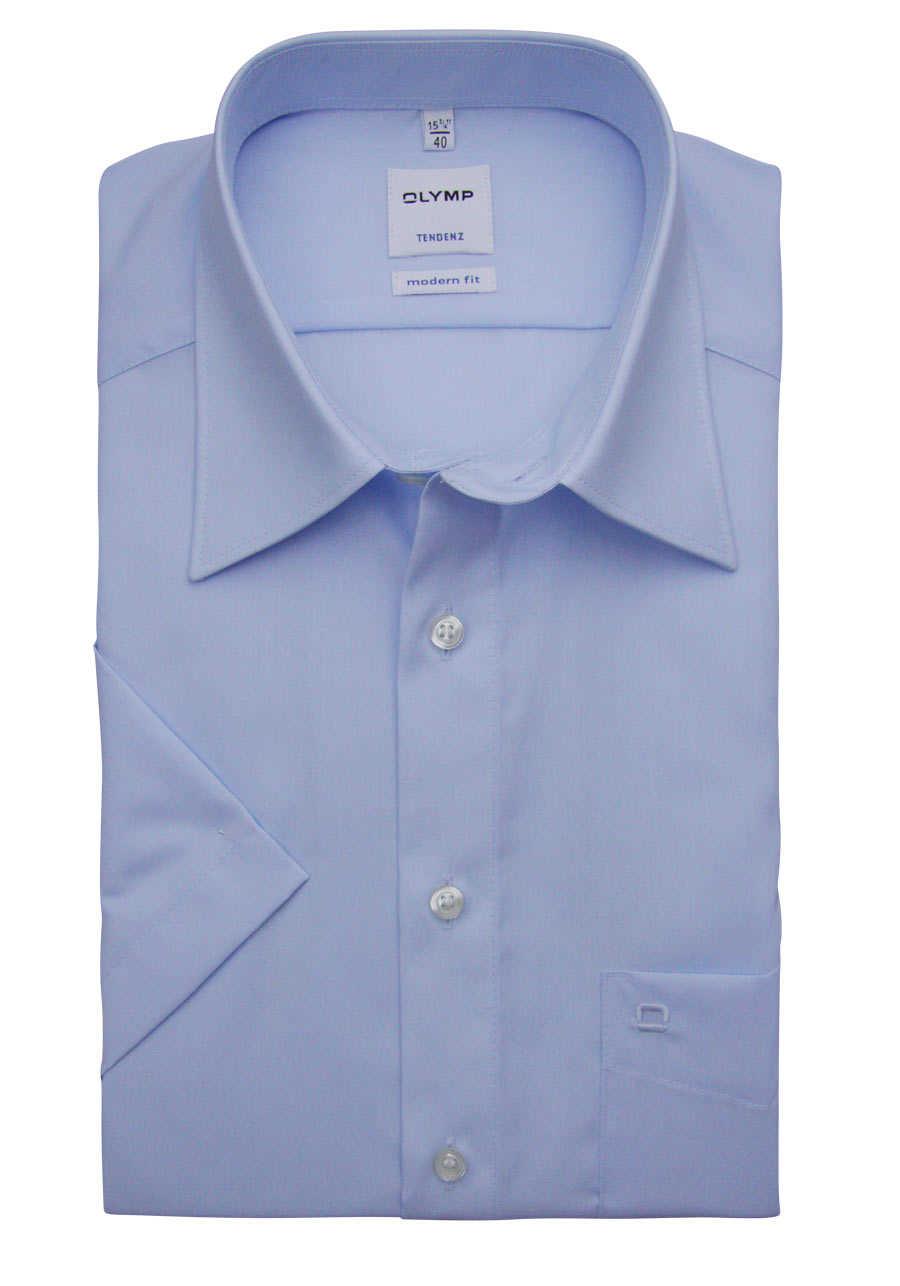 look out for later in stock hellblau Hemden Olymp Tendenz kurzarm Hemd