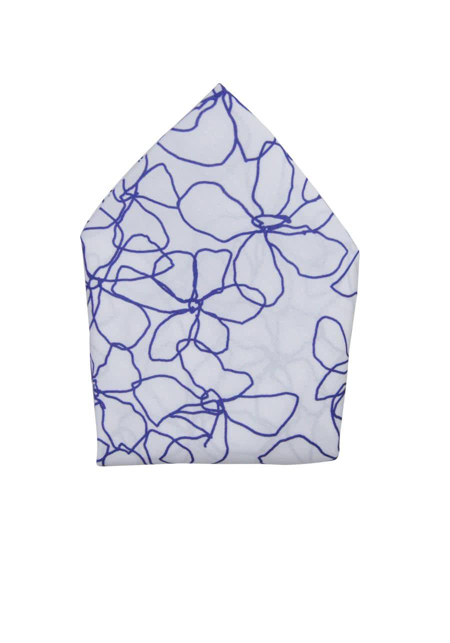 olymp einstecktuch aus reiner baumwolle handrolliert muster wei. Black Bedroom Furniture Sets. Home Design Ideas