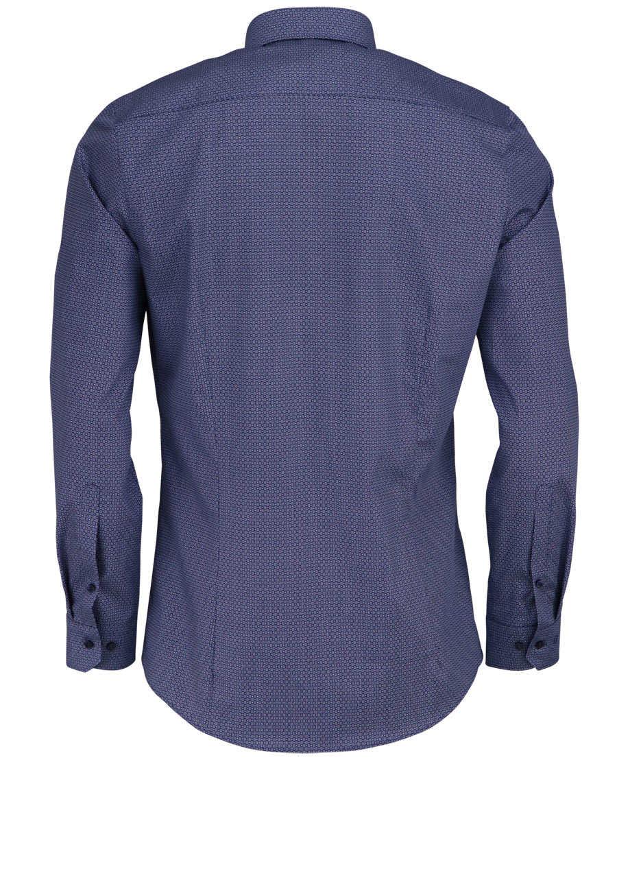e54e19da65ec OLYMP No. Six super slim Hemd Langarm New Kent Kragen Muster blau