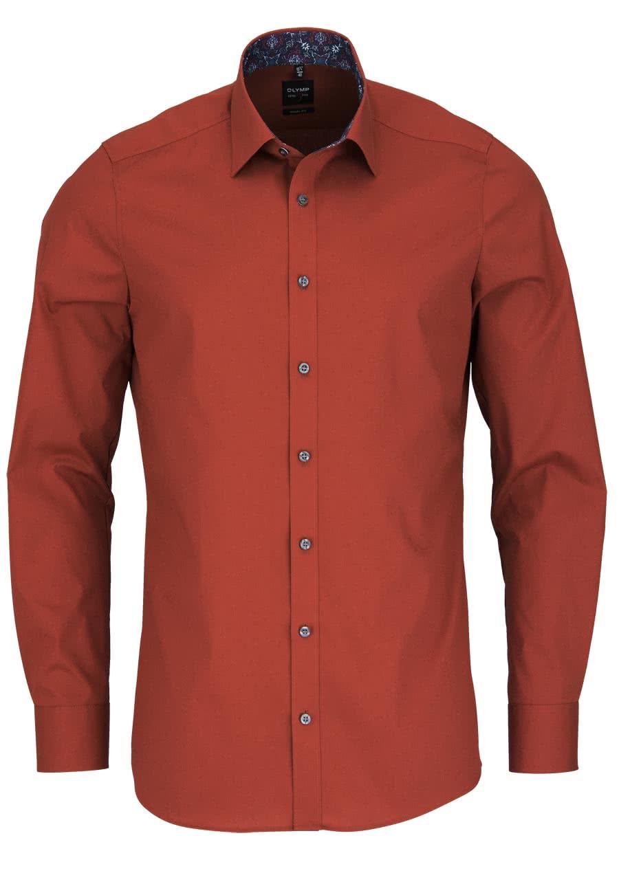 olymp body fit hemd langarm new kent kragen mit patch rost 6885 38 82. Black Bedroom Furniture Sets. Home Design Ideas