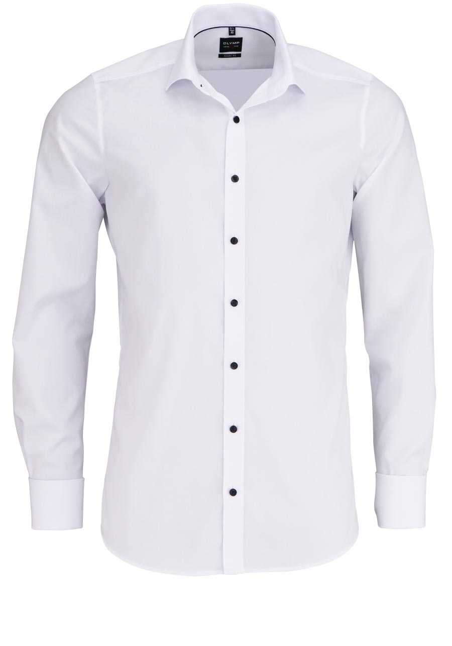 brand new de4e7 f4ee1 OLYMP Level 5 body fit Hemd Langarm Umschlagmanschette Stretch weiß