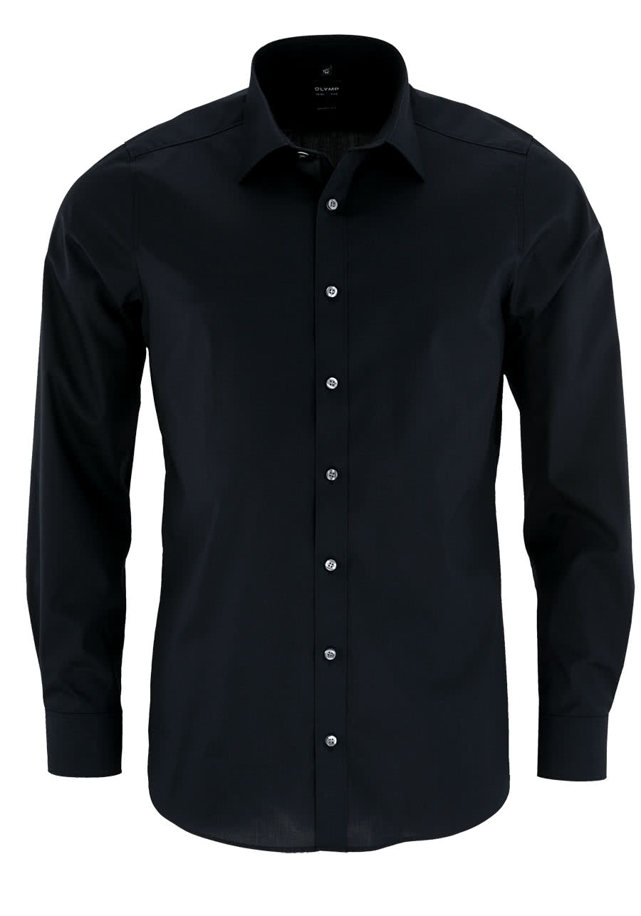 finest selection 88091 d05b2 OLYMP Level Fit body fit Hemd Langarm Stretch schwarz