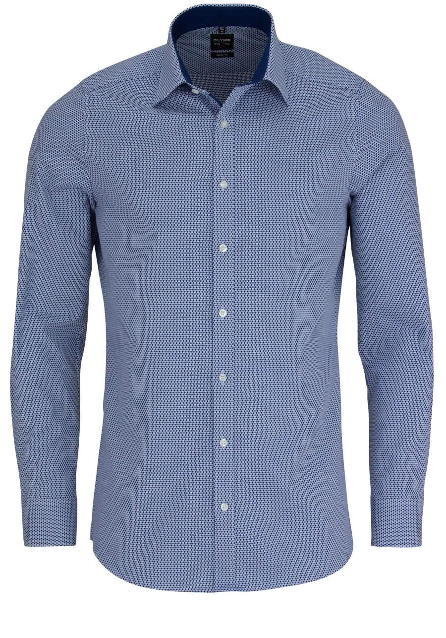 olymp level five body fit hemd extra langer arm muster dunkelblau al69. Black Bedroom Furniture Sets. Home Design Ideas