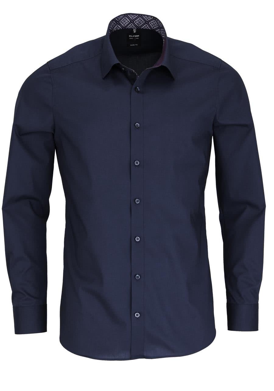 olymp level five body fit hemd extra langer arm dunkelblau al 69 2089. Black Bedroom Furniture Sets. Home Design Ideas