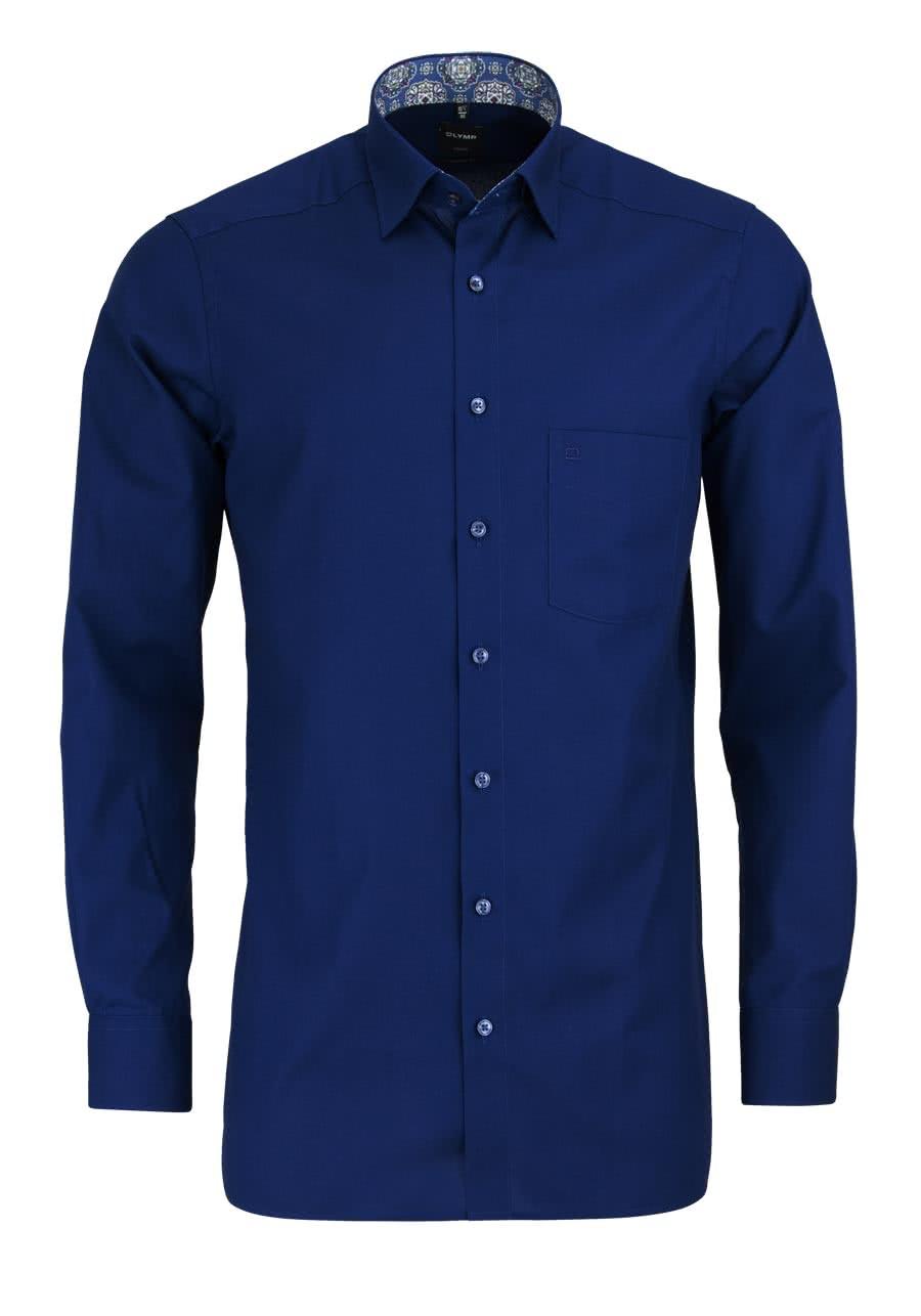 olymp luxor modern fit hemd extra kurzer arm dunkelblau al 58. Black Bedroom Furniture Sets. Home Design Ideas