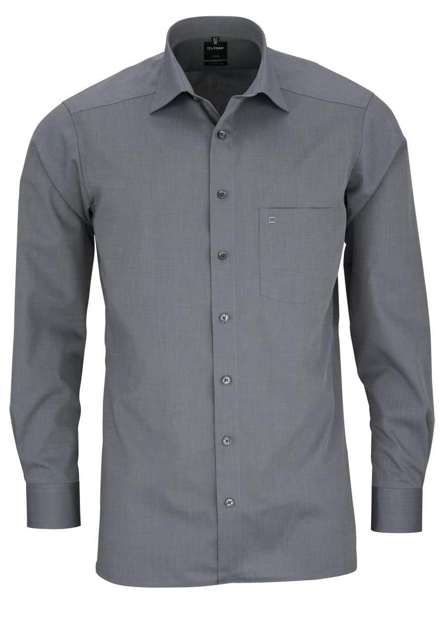 olymp luxor modern fit hemd extra langer arm fil a fil grau al 69 0302. Black Bedroom Furniture Sets. Home Design Ideas