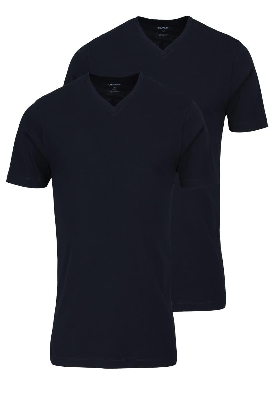 281f2350018e5a OLYMP T-Shirt Doppelpack V-Ausschnitt schwarz