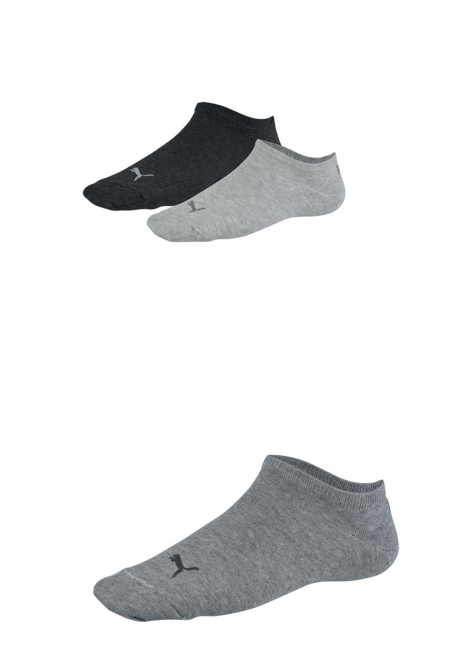 8236dd77c270 PUMA Sneaker Socken 3er Pack Unisex anthrazit mittelgrau hellgrau