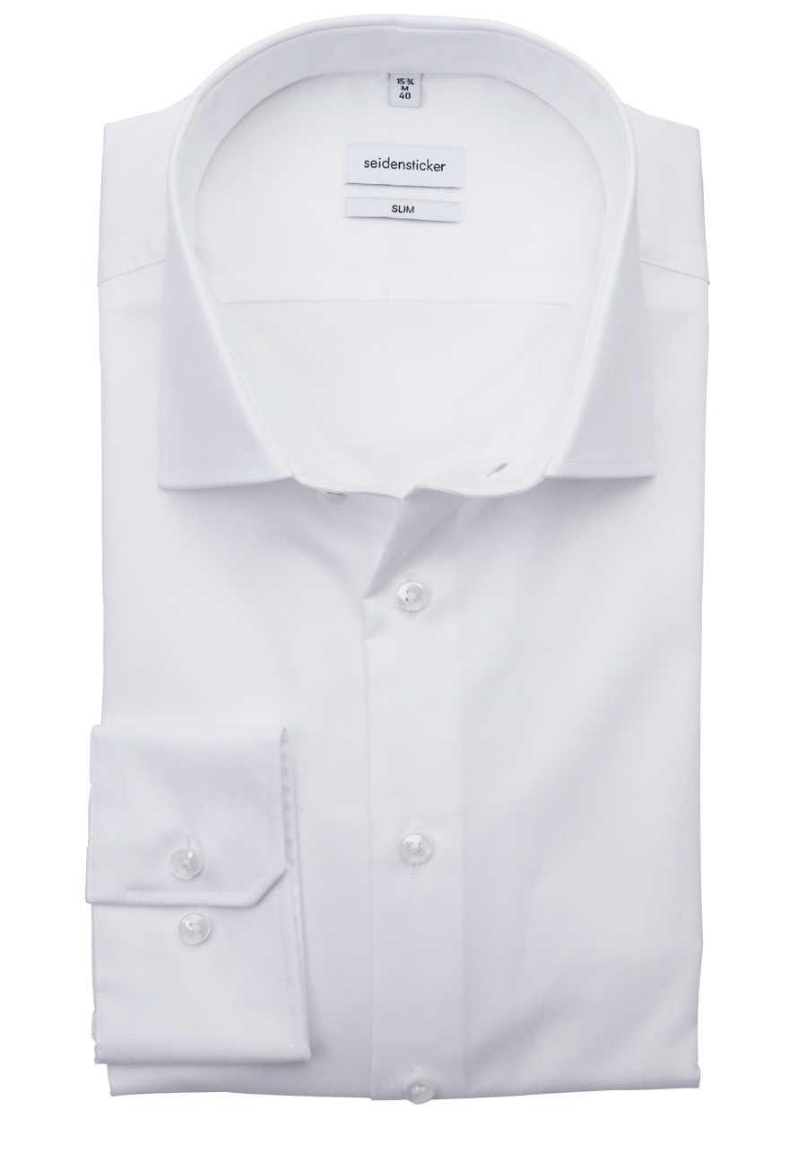 d62e52bfb0529 SEIDENSTICKER Slim Hemd Langarm THE ORIGINAL Kombimanschette weiß
