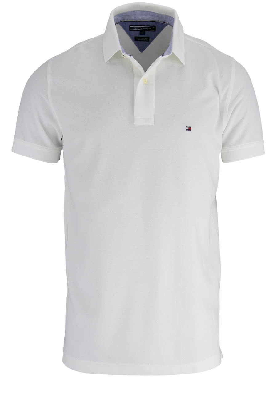 Tommy Hilfiger Performance Poloshirt Halbarm Regular Fit Wei Polo Shirt