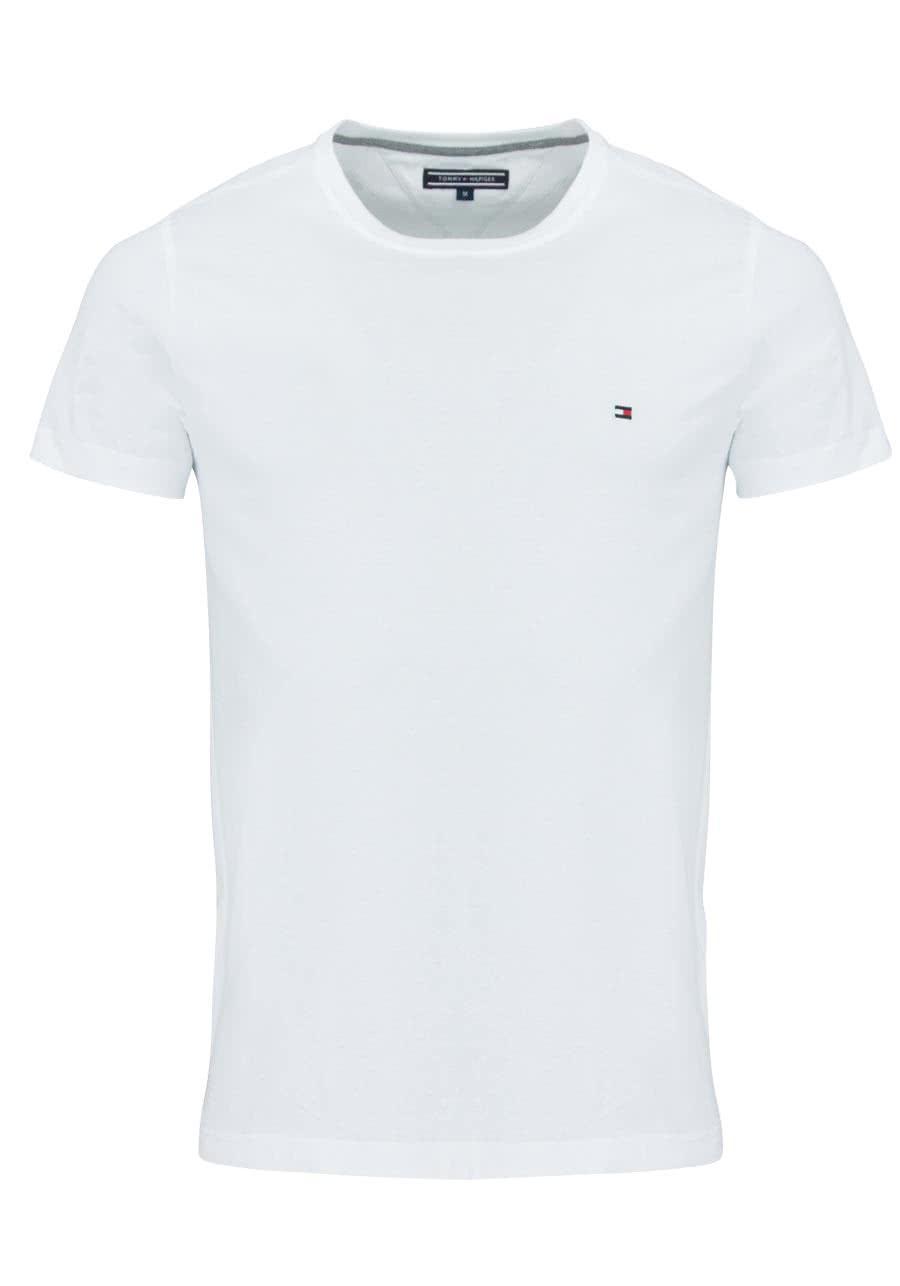 6c26f1621d33b TOMMY HILFIGER Halbarm T-Shirt Rundhals Stretch weiß