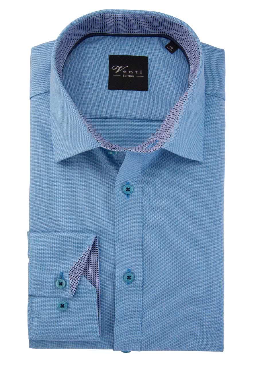 172815700 Slim Fit Venti Herren Langarm Hemd mit Kent Kragen