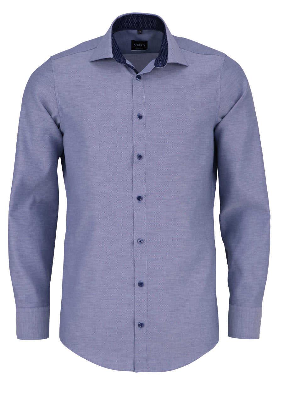 venti slim fit hemd extra langer arm struktur dunkelblau. Black Bedroom Furniture Sets. Home Design Ideas