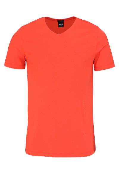 BOSS BUSINESS Regular Fit Kurzarm T-Shirt CANISTRO blutorange
