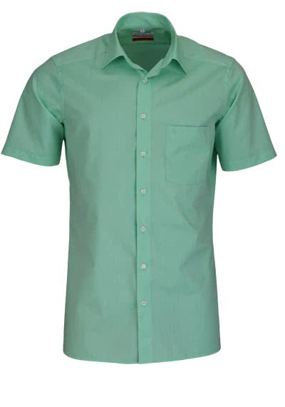 MARVELIS Modern Fit Hemd Halbarm Chambray mint