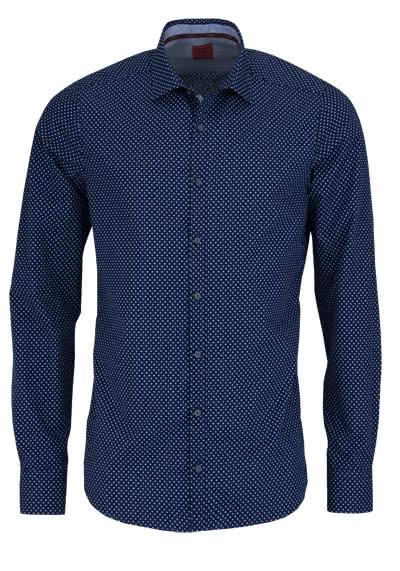 olymp level 5 body fit casual hemd langarm punkte blau. Black Bedroom Furniture Sets. Home Design Ideas