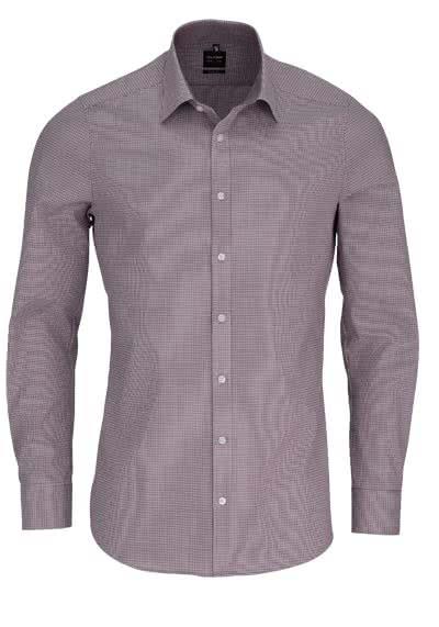 olymp level 5 body fit hemd langarm mit besatz muster hellblau. Black Bedroom Furniture Sets. Home Design Ideas