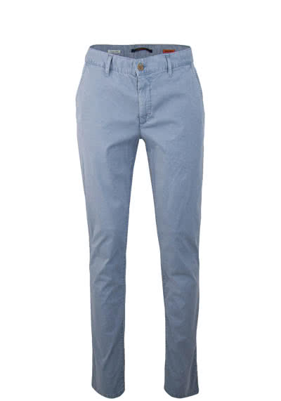 ALBERTO Regular Slim Fit Hose Flatfront Stretch mittelblau