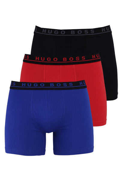 BOSS BUSINESS Boxershorts 3er Pack blau/rot/schwarz