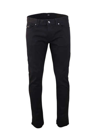 BOSS BUSINESS Slim Fit Jeans DELAWARE3 5 Pocket Reißverschluss schwarz